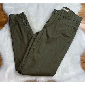 Levis 311 Shaping Skinny Olive Green Stretch Jeans